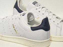 アディダス☆スニーカー【adidas】スタンスミス(STAN SMITH) / ランニングホワイト×ランニングホワイト×ノーブルインク / CQ2870