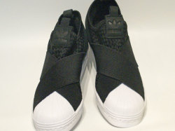 アディダス☆スニーカー【adidas】スーパースター スリッポン (SS SlipOn) / コアブラック×コアブラック×ランニングホワイト / CQ2487