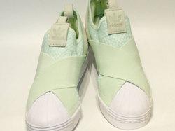 アディダス☆スニーカー【adidas】スーパースター スリッポン (SS SlipOn) / エアログリーン ×ランニングホワイト / CQ2488