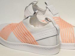 アディダス☆ウィメンズスニーカー【adidas】スーパースター スリッポン (SS SlipOn) W / ランニングホワイト×クリアオレンジ  / D96704