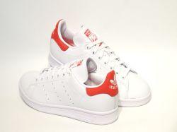 アディダス☆スニーカー【adidas】スタンスミス(STAN SMITH) /フットウェアホワイト×フットウェアホワイト×ラッシュレッド  / EF4334