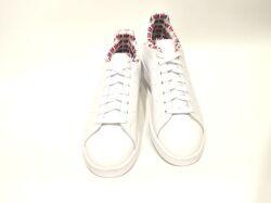 アディダス☆スニーカー【adidas】スタンスミス(STAN SMITH) / フットウェアホワイト×フットウェアホワイト×スカーレット /  FY2839