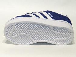 アディダス☆ベビースニーカー【adidas】CAMPUS EL I /  ダークブルー×ランニングホワイト×ランニングホワイト / BY9598