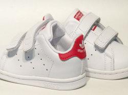 アディダス☆ベビー スニーカー【adidas】スタンスミス(STAN SMITH) CF I / ランニングホワイト×ボールドピンク / BZ0523