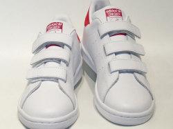 アディダス☆キッズスニーカー【adidas】スタンスミス(STAN SMITH) CF C/ ランニングホワイト×ボールドピンク / B32706