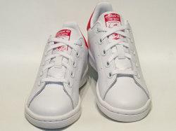 アディダス☆キッズスニーカー【adidas】スタンスミス(STAN SMITH) EL C/ ランニングホワイト×ボールドピンク / BA8377