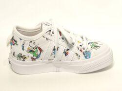 アディダス☆キッズスニーカー【adidas】ニッツァ グーフィ(NIZZA I GOOFY) C/ ホワイト×スカーレット×ブラック / FW3823