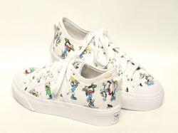 アディダス☆ジュニアスニーカー【adidas】ニッツァ グーフィ(NIZZA I GOOFY) J / ホワイト×スカーレット×ブラック / FW0651