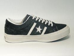 コンバース☆スニーカー【CONVERSE】スター&バーズ スエード (STAR&BARS SUEDE) / BLACK×WHITE (ブラック×ホワイト) / 1CK882