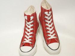 コンバース☆スニーカー【CONVERSE】オールスター ウォッシュドキャンバス (ALL STAR WASHEDCANVAS) HI / RED (レッド) / 1SC054