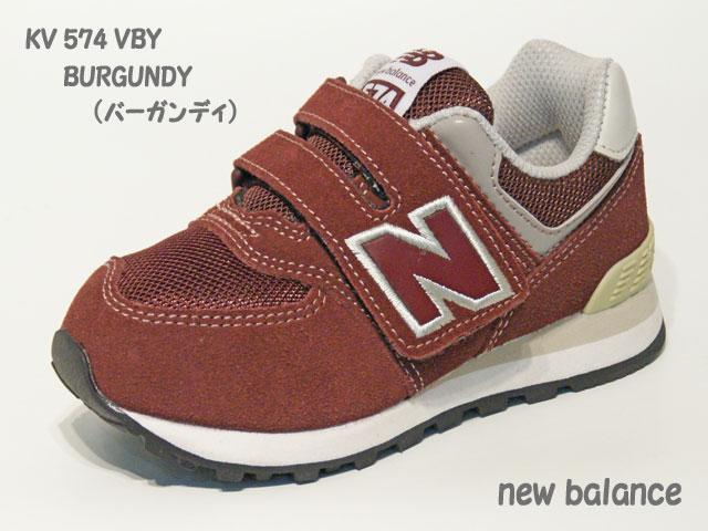 e667fb6610613 ニューバランス☆キッズ スニーカー【new balance】KV 574 VBY / BURGUNDY (バーガンディ)